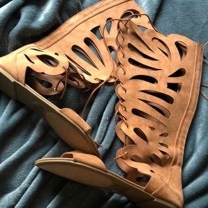 Beautiful nude sandals